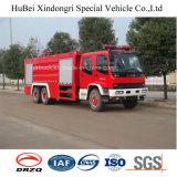 15ton Isuzu 물과 거품 탱크 유형 화재 싸움 엔진 트럭 유로 4