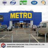 ISOによって証明される2階建ての鋼鉄構造市場か店