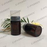 Botella ambarina de empaquetado plástica del animal doméstico de Skincare con el casquillo del polvo (PPC-PB-065)
