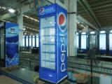Showcase ereto do refrigerador comercial do refrigerador do indicador da bebida do supermercado LG-380