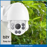 Impermeabilizar 1/3 '' cámara de seguridad de la bóveda de la velocidad del IP PTZ de 4MP Poe