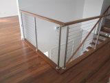 Escaleras del pasamano de la barandilla del pasamano del acero inoxidable/barandilla inoxidable del alambre de acero