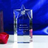 L'usine vendent directement le trophée en cristal de forme ronde pour le souvenir