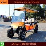 Chariot de golf électrique de chasse de 6 passagers avec les portées arrière de chiquenaude