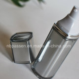 бутылка косметик серебряного серого цвета 30ml акриловая с безвоздушным насосом (PPC-NEW-098)