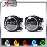 """4 """"Fog Light para carros Toyota, luz de nevoeiro LED para carros americanos 30W Round LED Fog Light Wth Halo Ring"""