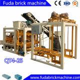 Vollautomatische konkrete Ziegelstein-Fabrik-Maschine des Kleber-Qt4-25