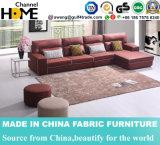 Modernes einfaches Wohnzimmer-rotes Gewebe-Sofa (HC571)