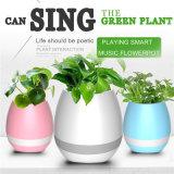Bac de fleur intelligent de musique de haut-parleur de la configuration DEL Bluetooth de filigrane pour la décoration de Home Office