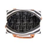Sacchetti a strisce delle signore del Duffle della tela di canapa casuale del progettista (MBNO042105)