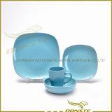 Fornecedor ajustado da cor contínua da louça 16PCS cerâmica redonda barata