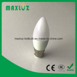ampoules de bougie de 6W C37 E27 DEL avec 220V