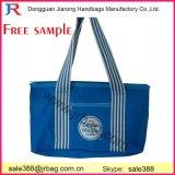 Le sac de sac à main de toile de traitement piste blanche/bleue/cadeau de toile/annoncent le sac à main