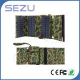 Saco de dobramento do melhor carregador portátil ao ar livre longo da energia solar de tempo de funcionamento 5W da qualidade (verde camuflar)