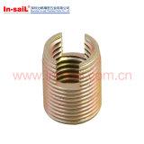 L302 pouces en fil M6 Carbone acier auto-filetage noix d'insertion