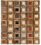 Mosaico di pietra di marmo naturale in mattonelle di pavimento (FYSC141)