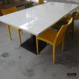 Подгонянная таблица быстро-приготовленное питания мебели акриловая твердая поверхностная