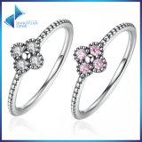 가치 순수한 925 여자를 위한 은 다이아몬드 결혼 반지