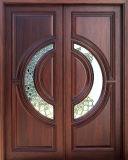 Porta de madeira externa da entrada dianteira de mogno (GSP1-036)