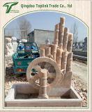 手すりまたは柵で囲むことの石造りの切り分ける石造りの彫刻の石の彫像