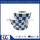 Grand dos r3fléchissant élevé blanc bleu de bandes fait dans l'usine de la Chine