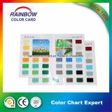 Carta de la tarjeta del color de la capa de la decoración de la buena calidad