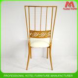 Выдвиженческое дешевое цена штабелируя стул Тиффани Chiavari золота металла