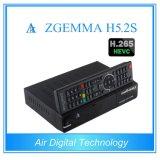HEVC / H. 265 Decodificador satélite Zgemma H5.2s Linux + S2 sintonizadores gemelos OS Enigma2 doble núcleo DVB-S2