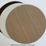 60cm 회색 색깔 편평한 가장자리를 가진 둥근 고체 합판 제품 탁상용