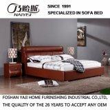 Кровать кожи красного цвета мягкая для пользы спальни (FB3080)