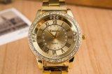 Reloj cristalino de las señoras de la dial grande