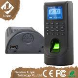 Control de acceso de la huella digital con el registrador de tiempo biométrico