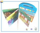 Libro de aprendizaje divertido de los sonidos de la impresión de los niños con el atascamiento de tarjeta