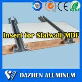 Garniture intérieure populaire de vente directe d'usine pour le profil d'aluminium de forces de défense principale Slatwall