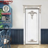 Portes en bois intérieures d'écran d'avant antique de chambre à coucher (GSP2-076)