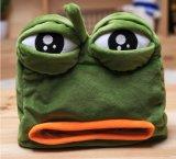 悲しいカエルのプラシ天のティッシュの箱の蓋22X21cm