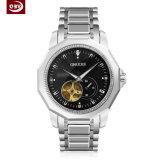 Form-Edelstahl-mechanische Uhr der kundenspezifischen Männer