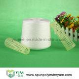 Filato filato memoria bianca grezza 100% del filato cucirino del poliestere della Cina