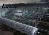 Cerca de alambre hexagonal de pollo del PVC de Sailin