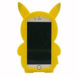 柔らかいiPhone 6 6splusカバーのためのiPhone 7 7plus 3Dの漫画のシリコーンの箱Pikachu (XSDW-081)