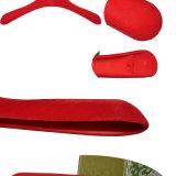 18 pulgadas de la marca de fábrica del almacén de lujo de encargo de la manera de perchas de capa plásticas con la barra del pantalón