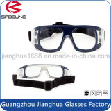粋な規定の塵の保護安全ガラス透過青いフレームのバスケットボールのVollayballのゴーグル