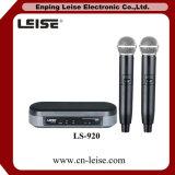 Microfono della radio di frequenza ultraelevata della Manica del doppio di karaoke di buona qualità Ls-920