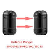 2 feixes infravermelhos Perímetro Abt 100 Metros Alarme Segurança Outside