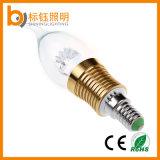 tipo munito delle lampadine di punta della fiamma della lampada E27 SMD della candela di 3W LED Dimmable