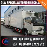 Dongfeng 4X2 5t 냉장고 트럭 또는 냉장고 상자 트럭
