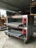 Pão dobro das bandejas das plataformas dobro industriais que coze o forno elétrico