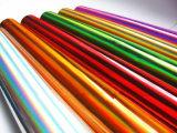 Colorer les clinquants chauds d'hologramme de clinquant d'estampage de laser avec différentes configurations pour le papier et le plastique