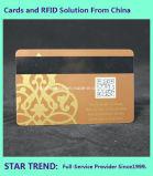 Scheda di marchio della stagnola di oro con la banda magnetica per il membro di VIP