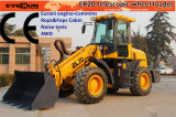 Er2000 CE Telescopic Arm Loader con Wooden Forks